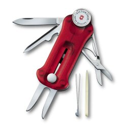 Victorinox Golf Tool Rot transparent