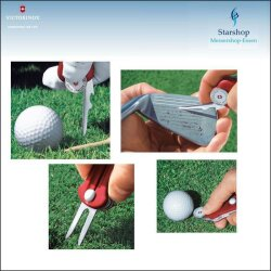 Victorinox Golf Tool Rot transparent