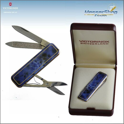 Victorinox Deluxe Edition - emailliert - blau marmor