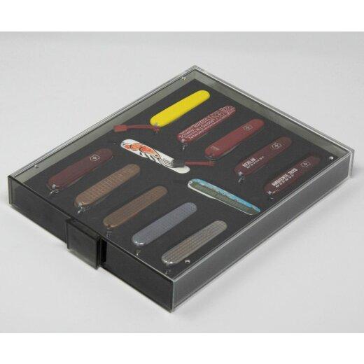 Lindner Sammelbox 40 mm mit Einlage für Modell Farmer ,Pioneer oder 91 mm Messer