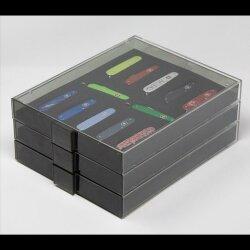 Lindner Sammelbox Rauchglas Black Samt für 21 Victorinox Messer 58 mm ( Classic)